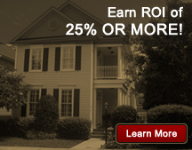 Earn ROI of 25% OR MORE!